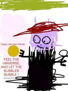 Happy new year! Happy New Year Friends, Bubbles, Let It Be, Feelings, Movie Posters, Art, Art Background, Film Poster, Kunst