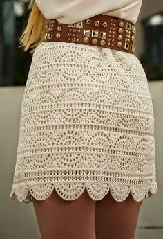 Crochet A-line Mini Skirt Free Pattern- Crochet Women Skirt Free Patterns (Top Moda Crochet) Skirt Pattern Free, Crochet Skirt Pattern, Crochet Skirts, Crochet Clothes, Free Pattern, Skirt Patterns, Crochet Patterns Free Tops, Knitting Patterns, Pull Crochet