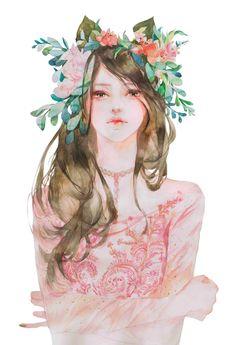 Chinese girl art
