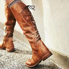 Women's Boots Knee High Boots Low Heel PU Lace-up Boots, veryvoga Low Heel Boots, Flat Boots, Lace Up Boots, Knee High Boots, Heeled Boots, Bootie Boots, Shoe Boots, Tall Boots Outfit, Women's Shoes