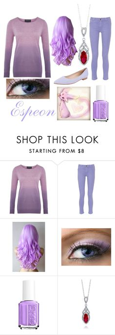 """""""Espeon Inspired Outfit"""" by pokewolfgirl ❤ liked on Polyvore featuring Viyella, Just Cavalli, Essie, BERRICLE and Butter Shoes"""