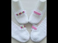 Der Neu :Seamless very easy booties made of 2 skewers - Part 1 Base section // ONLY . Crochet Baby Shoes, Crochet Slippers, Easy Crochet, Crochet Top, Baby Shoes Pattern, Leg Warmers, Dance Shoes, Booty, Youtube