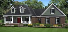 This County House Plan includes 3 bedrooms / 2 baths in 1934 sq ft of living space.  Its open floorplan layout is flexible and is ideal for your growing family.  Best of all, its designed to be affordable to build and includes all of the most popular features you're looking for in your next home design.    #houseplan #dreamhome #HPG-1934B #HousePlanGallery #houseplans #homeplans Southern House Plans, Country Style House Plans, Country Style Homes, Cottage House Plans, Bedroom House Plans, Cottage Homes, Small House Floor Plans, New House Plans, Building A New Home