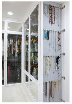Jewelry organization  or scarfs  I could fix this on the side of a wardrobe or back of a door