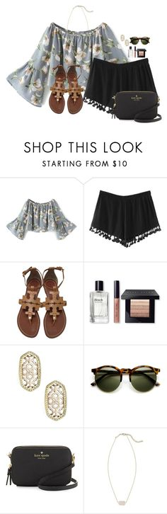 """~oh my stars~"" by flroasburn ❤ liked on Polyvore featuring Tory Burch, Bobbi Brown Cosmetics, Kendra Scott and Kate Spade"