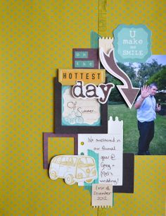 Paper and Pins. my handmade journey: DT layouts: New Hopscotch Collection from Kaisercraft My Scrapbook, Scrapbook Layouts, Hopscotch, Make Me Smile, Embellishments, Journey, Paper, Frame, Day