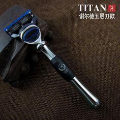 5 blade shaving razor, razor for men, men's shaving products,Titan razor