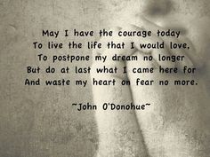 John O 'Donohue on the courage to write, Irish blessing