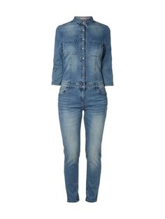 JAKES-CASUAL Jeans-Overall mit Brusttaschen in Blau / Türkis online kaufen (9531580) | FASHION ID Online Shop