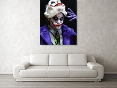 The Joker Unmasked Acrylic Print by Jeremy Guerin. All acrylic prints are professionally printed, packaged, and shipped within 3 - 4 business days and delivered ready-to-hang on your wall. Choose from multiple sizes and mounting options. Very Nice Images, Funny Joker, Picture Comments, Joker Art, Acrylic Artwork, Canvas Prints, Framed Prints, Acrylic Sheets, Toys Photography