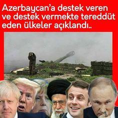 """Instagram'da Kenan Gümüş ...✒: """"❌Azerbaycan'a destek veren ve destek vermekte tereddüt eden ülkeler açıklandı.. ❌Azerbaycan'a Ermenistan karşısında destek veren ülkeler ve…"""""""