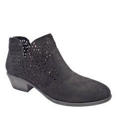 67a5867b7e40 Black Cutout Manny Ankle Boot - Women  zulily  zulilyfinds Crazy Shoes