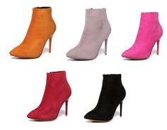 Womens Hot Trendy Ankle Bootie Heels
