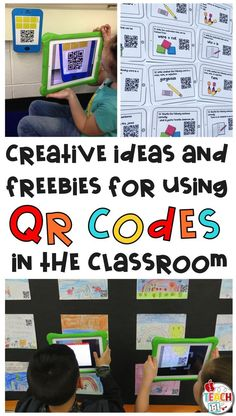TONS of ideas and free activities for using QR codes in the elementary classroom. You'll find freebies for using QR codes in math, reading, for scavenger hunts, self-checking task cards, listening centers and more! Teaching Technology, Teaching Biology, Educational Technology, Technology Integration, Math Classroom, Classroom Activities, Google Classroom, Classroom Organization, Qr Codes