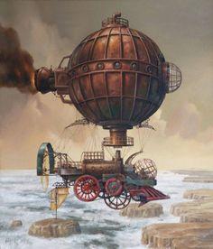 Cool Steampunk Artwork by artist Jarislaw Jasnikawski / when goth goes brown