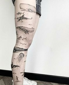 Tattoo Life, Sea Life Tattoos, Sea Tattoo, Ocean Tattoos, Nature Tattoos, Body Art Tattoos, Small Tattoos, Sleeve Tattoos, Cool Tattoos