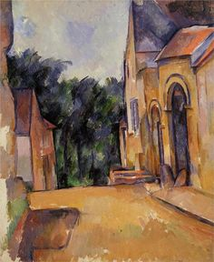Paul Cezanne -Farm at Montgeroult, 1898 Paul Cezanne - by style - Cubism Paul Gauguin, Cezanne Art, Paul Cezanne Paintings, Monet, Most Famous Paintings, Oil Painting Reproductions, Renoir, French Artists, Oeuvre D'art