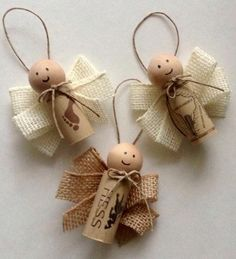 Wine Cork Ornaments - 39 Cork Crafts with which you can . - Wine Cork rod Ornaments 39 Cork Crafts with which you - Wine Cork Ornaments, Diy Christmas Ornaments, Christmas Projects, Holiday Crafts, Christmas Decorations, Spring Crafts, Tree Decorations, Christmas Ideas, Holiday Decor