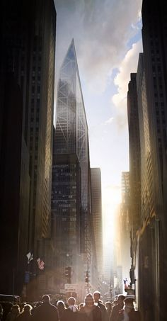Future New York. The proposed MoMA Expansion Tower. 53 West 53rd St. (Tower Verre) | 320 m | 1,050 ft | 72 fl | JEAN NOUVEL