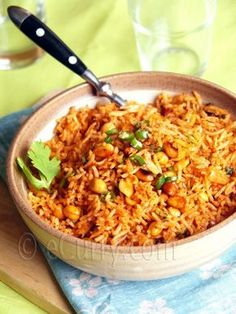 Cumin flavored Peanut and Tomato Rice | eCurry - The Recipe Blog
