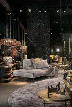 """""""Dark interiors are edgy, trendy, enigmatic, sophisticated. Let yourself be inspired by moody and ecletic interior decor ideas. // ✔ Take a look at our website to discover our artisitic and exquisite… More Photos 1 comment """" Luxury Home Decor, Luxury Interior Design, Interior Design Inspiration, Home Design, Design Ideas, Color Interior, Design Hotel, Design Styles, Style Inspiration"""
