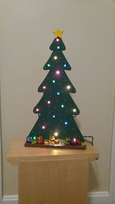 Wooden Tree With Lights Lighted Wooden Trees Christmas Tree
