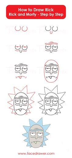 Rick is your favourite cartoon character? Learn how to Rick from Rick and Morty. Just follow along the easy steps and learn how to draw Rick.