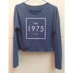 Crop Long Sleeves the 1975 Shirt the1975 Shirt the 1975 Tshirt Women's... (365 CZK) ❤ liked on Polyvore