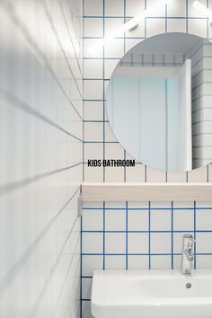 kids bathroom by cirera+espinet #blue cement