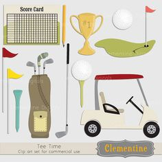 Golf clip art images  golf clipart trophy by ClementineDigitals, $5.00