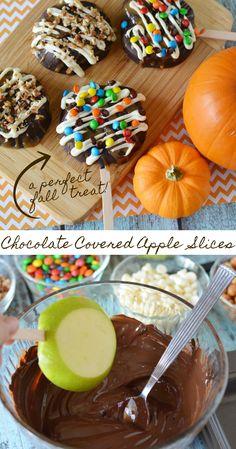 Fall Snacks, Fall Treats, Fall Desserts, Delicious Desserts, Dessert Recipes, Yummy Food, Snack Recipes, Halloween Candy Apples, Halloween Chocolate