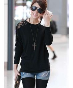 Shown+Color:+Black  Main+Fabric:+Cotton,+Lace  Available+Size:+One+Size  Shoulder+Length:+Free++++  Bust:+130cm++++  Sleeve+Length:+65cm++++  Length:+65cm++    More+style+and+discount,please+visit:+http://www.clothingloves.net