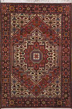 "Buy Bijar Persian Rug 3' 3"" x 5' 0"", Authentic Bijar Handmade Rug"