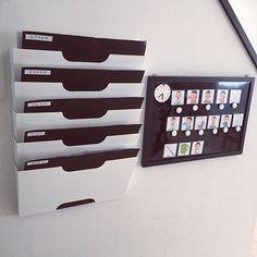 のいつもいいねやコメありがとうございます♡/モノトーン/シンプル/IKEA…などについてのインテリア実例を紹介。「お試ししていた身支度ボードはプリント収納の隣に設置して、現在はこうなりました(Ü)」(この写真は 2016-11-03 09:24:10 に共有されました)