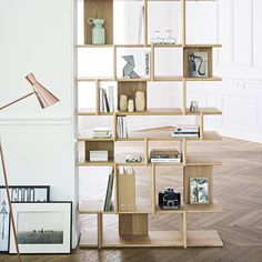bibliotheque en bois design et moderne Junddo