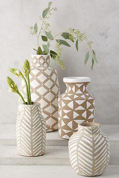 Kolya Vase - anthropologie.com rough/sandy pottery