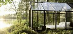 Glass house at camping De Lakens (NL - province Noord Holland, close to the sea)