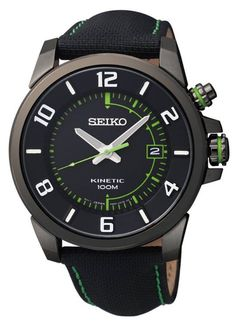 Seiko Kinetic Watches Men is one variant of Seiko watches for men. Get the best collection of Seiko Kinetic Watches Men here and complete your activities with Seiko watches are elegant. Cool Watches, Watches For Men, Wrist Watches, Seiko Men, Bracelet Cuir, Bracelet Men, Bracelets, Mens Watches Leather, Seiko Watches