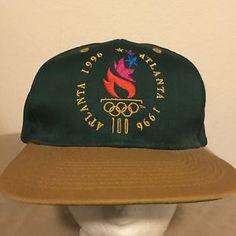 Vintage 1996 Atlanta Olympics Olympic Games Green Snapback Hat Cap Adult | eBay