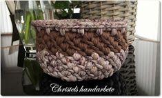 Christels handarbete: Virkade korgar, Crochet basket