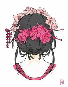 T-shirt geisha design. Lots of flowers :)