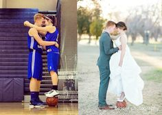 RELATIONSHIP GOALS MET!! My high school sweetheart is now my husband. I never thought I could possibly be more crazy about him! #wemadeit #basketballcouples #loveandbasketball
