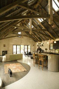 terrazzo & wood floor