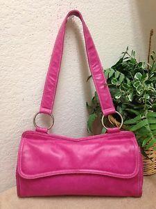 e721d13193c8 Wilsons Leather Maxima Hot Pink Leather Shoulder Handbag Bag