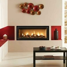 Gazco Radiance Inset fire is a contemporary design suitable to any room in the house, creating the ultimate centrepiece. Inset Electric Fires, Electric Stove, Wall Gas Fires, Flame Picture, Relaxing Images, Crushed Glass, Contemporary Design, Interior, Stoves