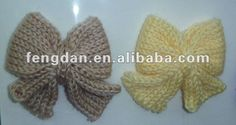 lovly handmade crochet bow accessories suitable for shoes,hat,garment,hair accessories