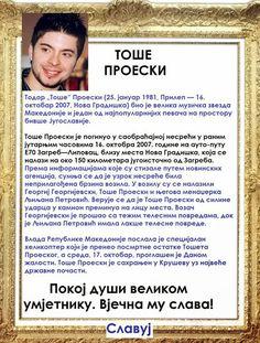 SlAvKo JOVIČIĆ SLAVUJ:  ДА СЕ НЕ ЗАБОРАВИ! 16. 10. 2016. За сјећање и памћење... ----------------- НА ДАНАШЊИ ДАН 16. 10. умро је ТОШЕ ПРОЕСКИ
