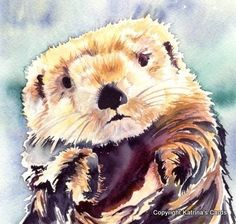 Sea Otter NoteCard Gift Package by katrinascards on Etsy