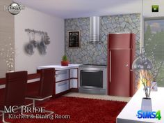 Jom Sims Creations: MC BRIDE kitchen and livingroom • Sims 4 Downloads  Check more at http://sims4downloads.net/jom-sims-creations-mc-bride-kitchen-and-livingroom/