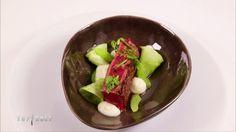 Entrecôte rôtie, cônes de celeri au beurre vert, jus de boeuf Top Chef 2015 Xavier Koenig
